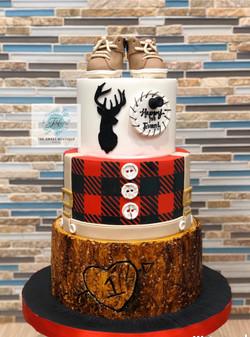 Lumberjack 1st Birthday Cake