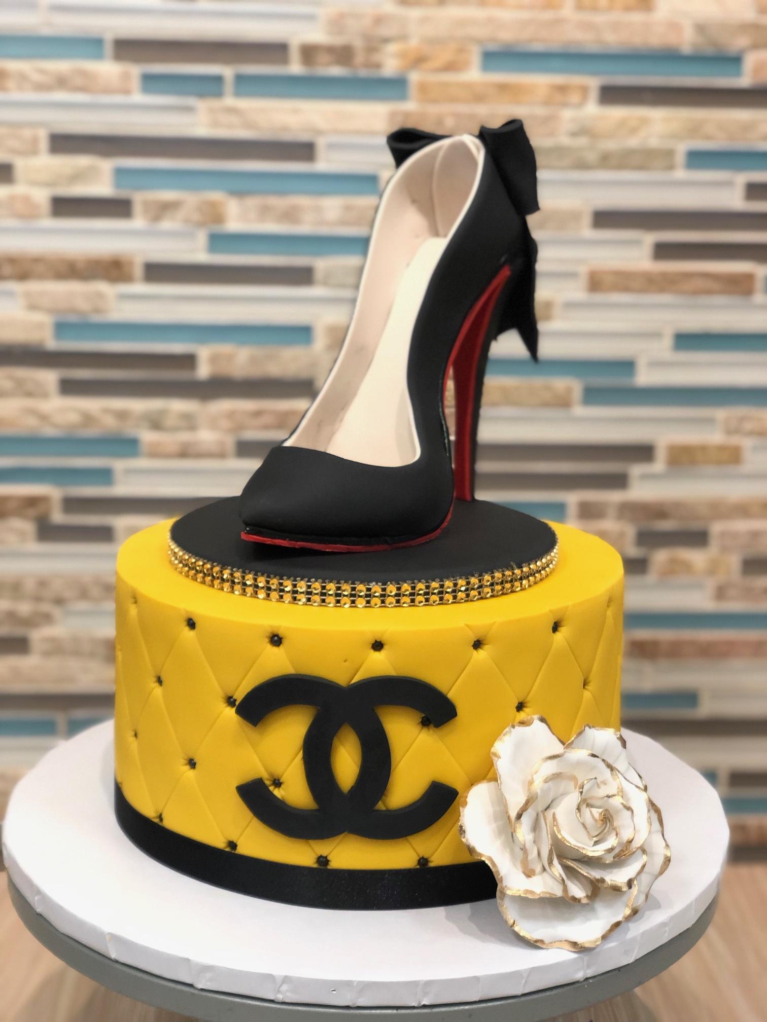 Chanel/Louboutin Heel Cake