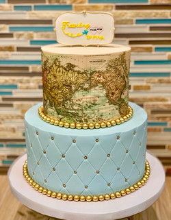 World Map Engagement Cake