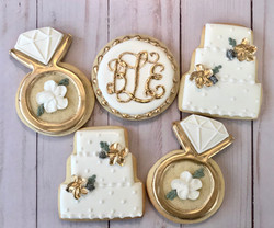 Gold Engagement Cookies