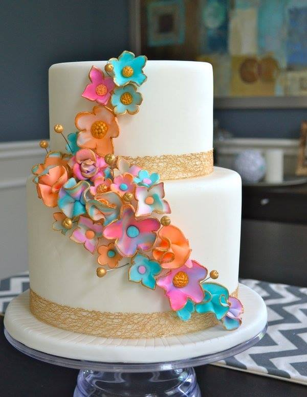 Floral Wedding Cake Design
