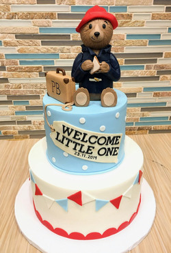 Paddington Bear Baby Shower Cake