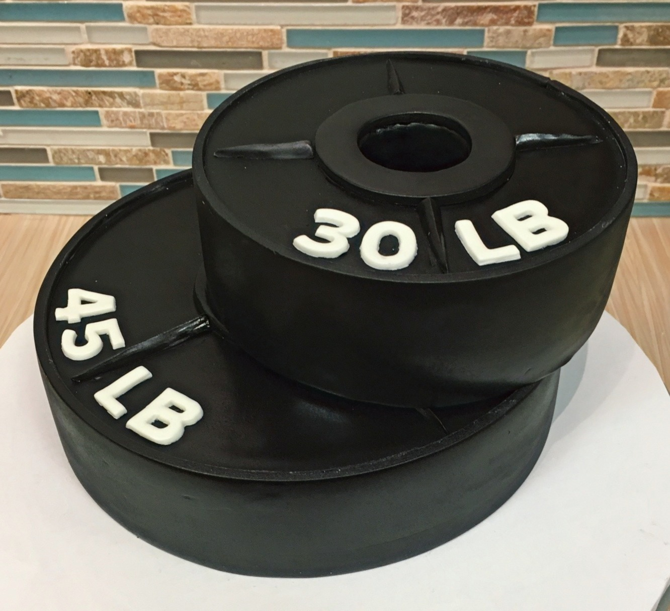 Free Weights Birthday Cake