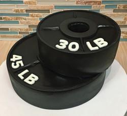 Free Weights Birthday Cake