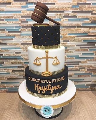 3 tier graduation cake