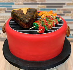 Grilling Steak and Kabobs Cake
