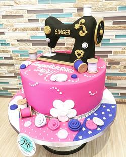 Fashion design graduation cake! #sewingm