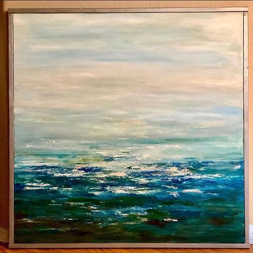 Ocean Coastal Seaside 36 x 36