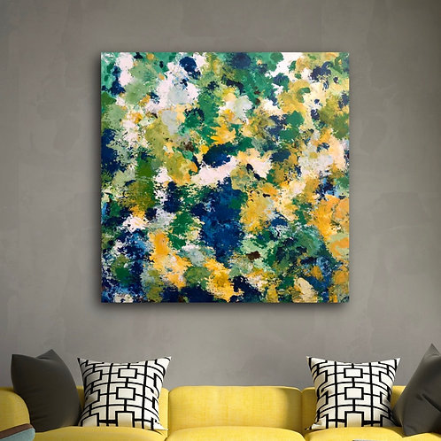 Contemporary abstract painting 36 x 36 x 1.25 Gallery Wrapped Canvas