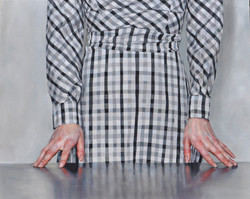 gingham dress at table