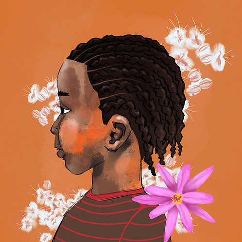 Little Boy Braids (Floral)