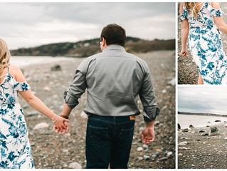 Carly & Anthony's beach engagement