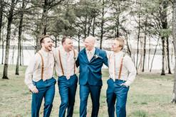 Groomsmen with groom
