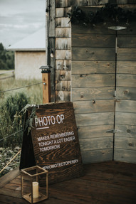 Wedding decor and photo booth