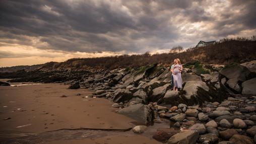 Beach sunset maternity