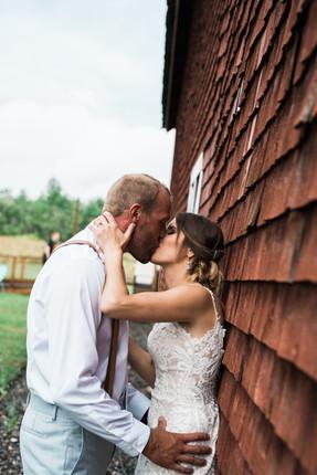 Bride and Groom barn