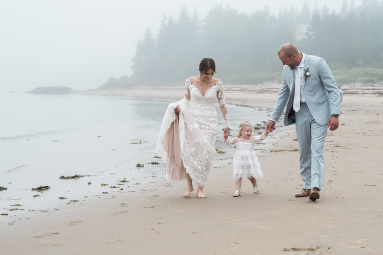 Beach family wedding