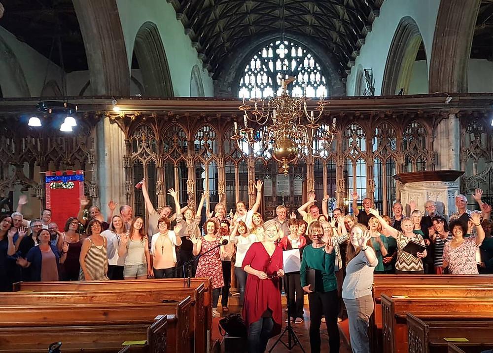 In rehearsal with Gaudeamus chamber choir