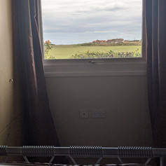 View from the double bed