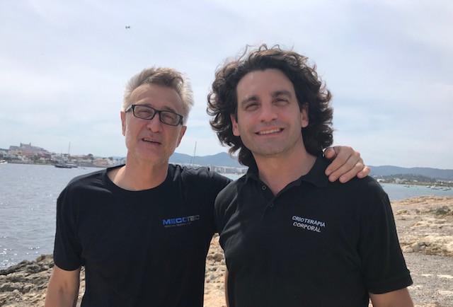 Instalacion de cabina para crioterapia electrica finalizada en Ibiza