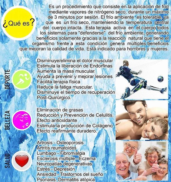 Tratamientos de crioterapia con criosauna en Rancagua Chile