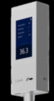 Medidor de temperatura para entradas a lugres publicos