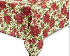 Kelli's Party Rental  Christmas rectangular tablecloths for rent on a budget, low price