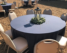 Kelli's Party Rental round tables for rent on a budget, low price