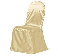 Kelli's Party Rental satin chair covers for rent on a budget, low price
