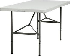 Kelli's Party Rental rectangular tables for rent on a budget, low price