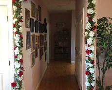 Kelli's Party Rental silk flower garlands for rent on a budget, low price