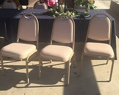 Kelli's Party Rentals, banquet chairs on a budget