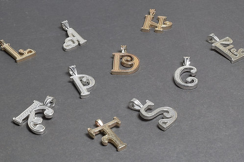 Alphabet Pendants (Gold)