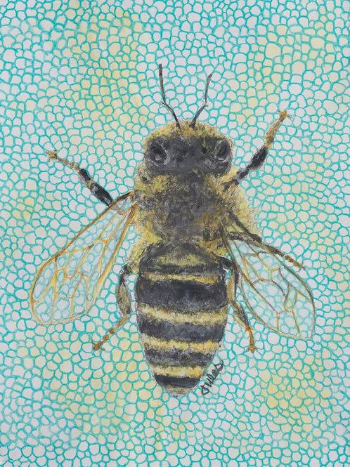 """Ms. DoRthEa AgaTha...the Bee,  8 1/2 """" x 11"""" Giclee"""