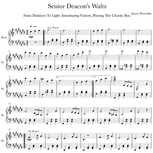 Senior Deacon's Waltz Digital Sheet Music Download