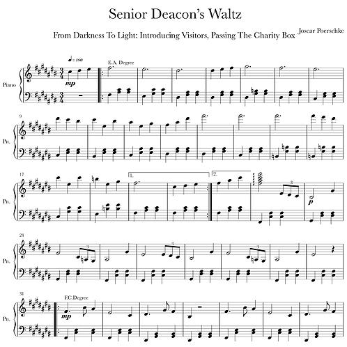 Senior Deacon's Waltz Digital Sheet Music Download