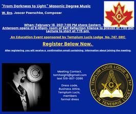 Masonic Avant-garde-From Darkness to Light: Masonic Degree Music February 18, 2021