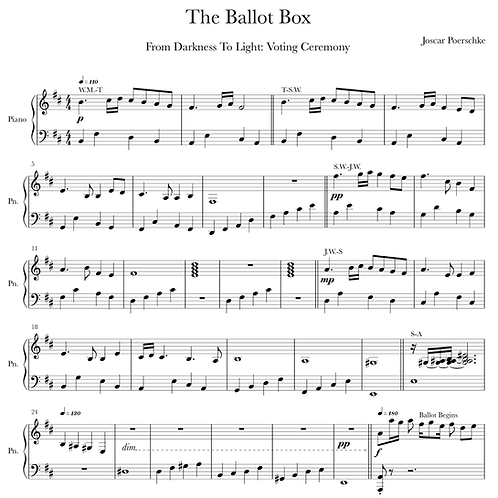 The Ballot Box Digital Sheet Music Download