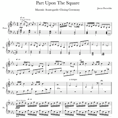 Part Upon The Square Digital Sheet Music Download