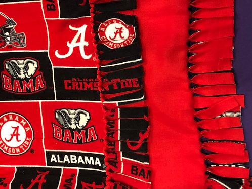Alabama Crimson Tide No-Sew Blanket