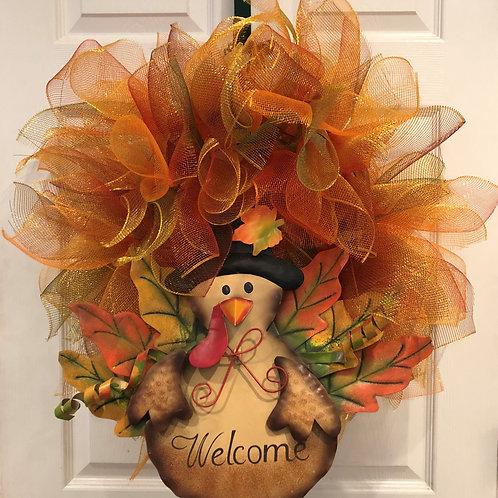 Turkey Welcome Wreath