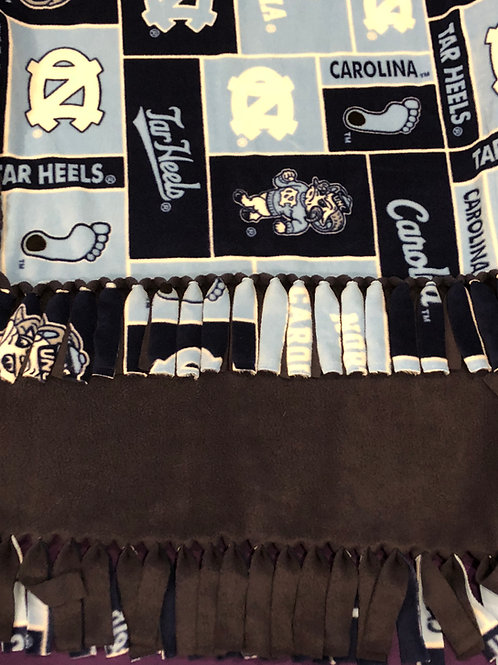 UNC Tar Heels No-Sew Blanket