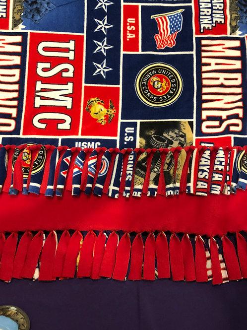 USMC No-Sew Blanket