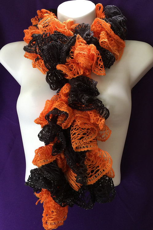 Orange & Black Sashay Scarf
