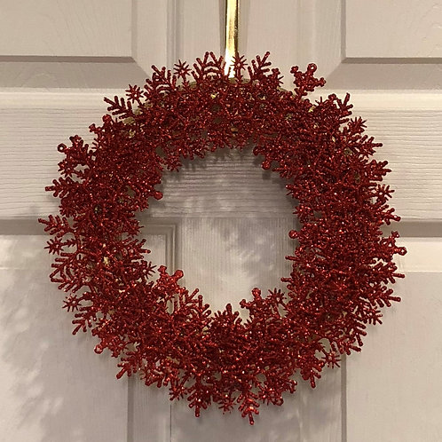 Red Snowflake Wreath