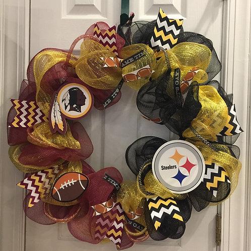 Redskins/Steelers Wreath