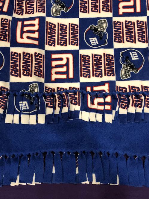 NY Giants No-Sew Blanket