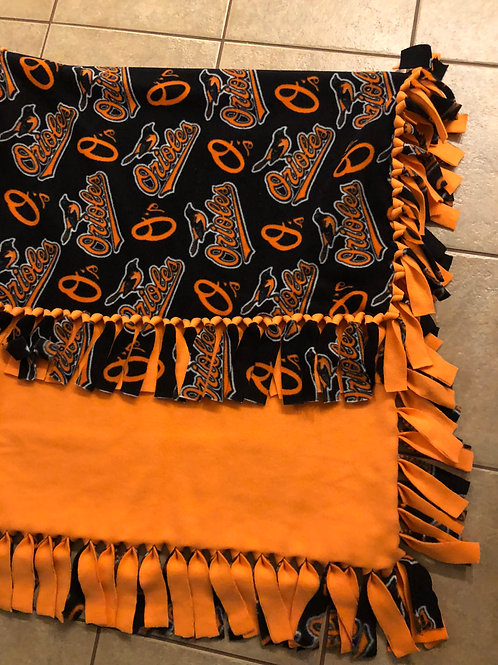 Orioles No-Sew Blanket