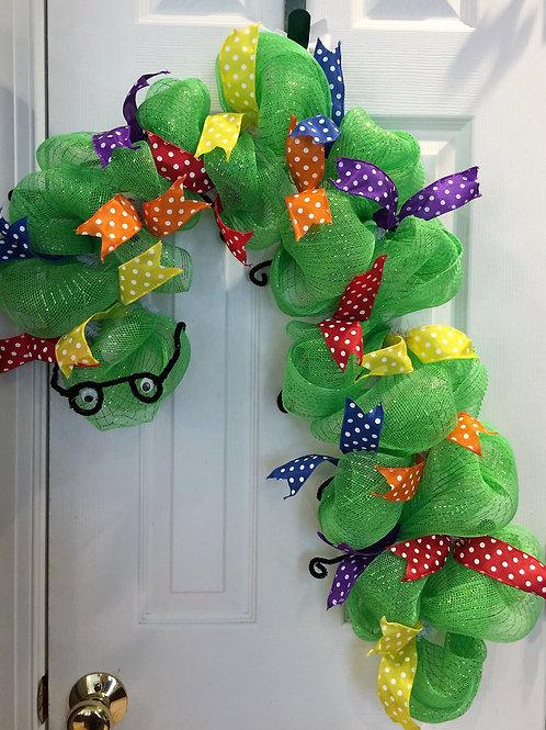School Bookworm Wreath