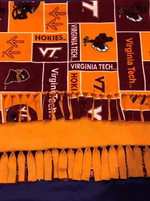 Virginia Tech No-Sew Blanket
